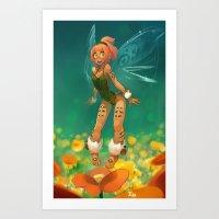 elf Art Prints featuring Elf by xaxaxa