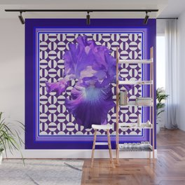Decorative  purple Iris Optical Pattern Art Wall Mural