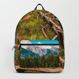 Grand Teton National Park Fence Print Backpack
