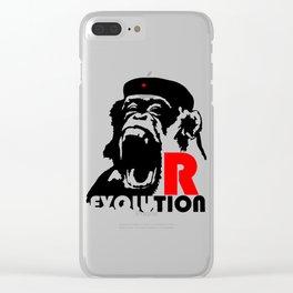 Revolution - Evolution - chimp Clear iPhone Case