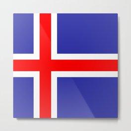 Iceland National Flag Metal Print