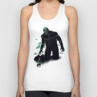 titan Tank Tops featuring shadow of the titan by Louis Roskosch