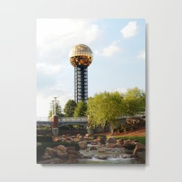 Knoxville Sunsphere 3 Metal Print