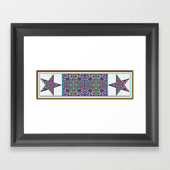 Starry Garden Framed Art Print