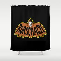 watchmen Shower Curtains featuring Rorschach by Buby87