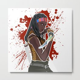 Michonne (The Walking Dead) Metal Print