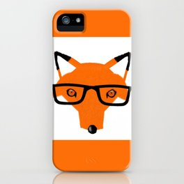 hipster fox iPhone Case
