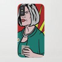 lichtenstein iPhone & iPod Cases featuring Malory Archer Lichtenstein by turantuluy