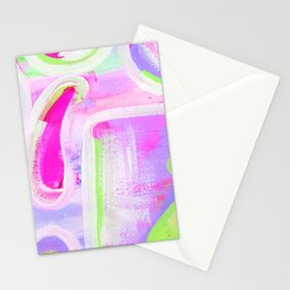 Abstract Neon Purple Study Stationery Cards