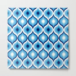 Evil Eye Blue Pattern Metal Print