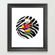 Rainbow Zebra Fairy #society6 Framed Art Print