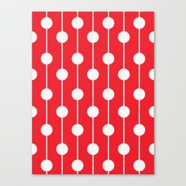 Red Lined Polka Dot Canvas Print
