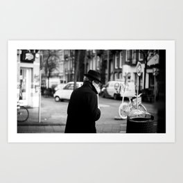 The Man in the Trench Coat Art Print