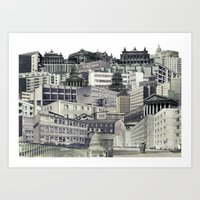 sin city Art Prints featuring Sin City by anitaa