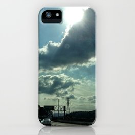 Admiring the clouds. iPhone Case