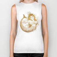 mermaid Biker Tanks featuring Mermaid by VLAD stankovic