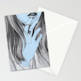 Seven blues  Stationery Cards