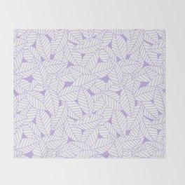 Leaves in Lavender Throw Blanket