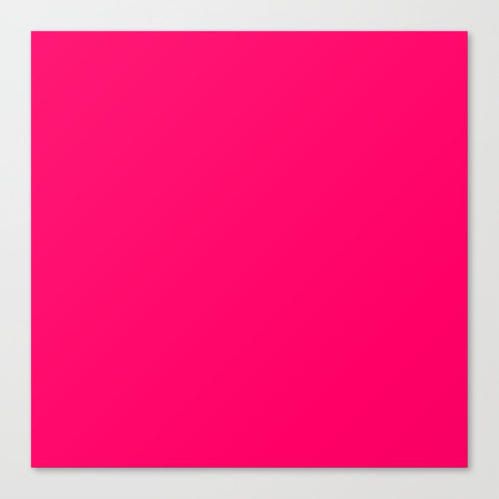 Hot Pink Color Canvas Print by nicnak85 | Society6