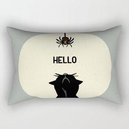 Spider and cat Rectangular Pillow