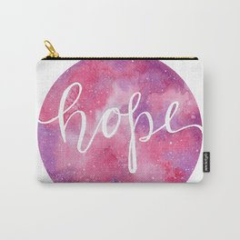 Hope- Watercolor Galaxy Carry-All Pouch