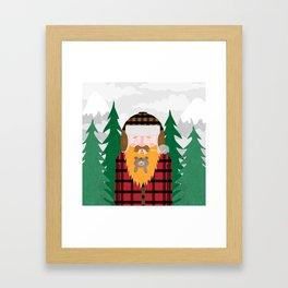 Bear Beard Framed Art Print
