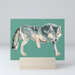 Totem Polar wolf Mini Art Print