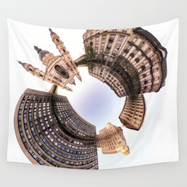 Holey planet with Basilica Wall Tapestry