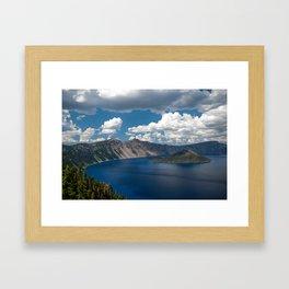 Cloud Camo Crater Lake Framed Art Print