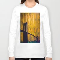 brooklyn bridge Long Sleeve T-shirts featuring Brooklyn Bridge by KINGCHANCE
