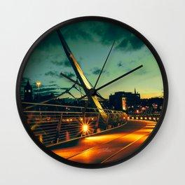 St Patrick's Sunset Wall Clock
