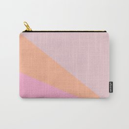 Simple Candy Pastel Color Block Shapes in Pink and Coral Carry-All Pouch