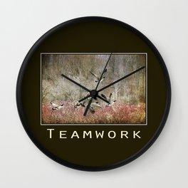 Inspiring Teamwork Wall Clock