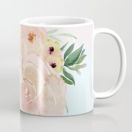 Wild Roses on Pink and Blue Coffee Mug