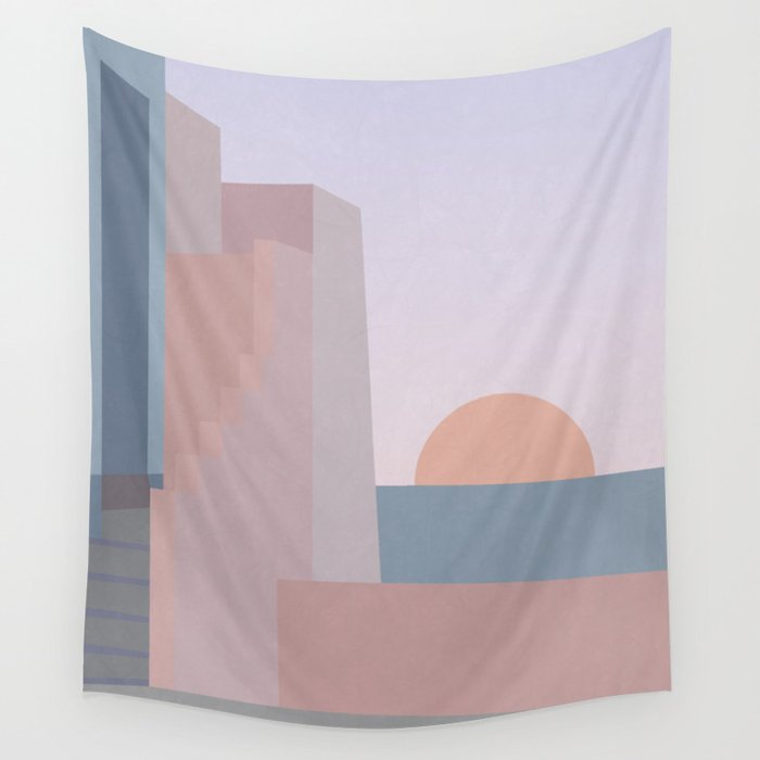 Spanish Sunset Wall Tapestry