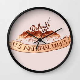 Defend Our Nat'l Parks Wall Clock