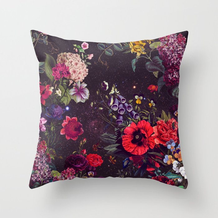 Astro Garden Throw Pillow