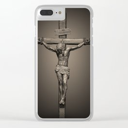 Crucifixion - For All of US Clear iPhone Case