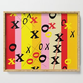 X's and O's Serving Tray