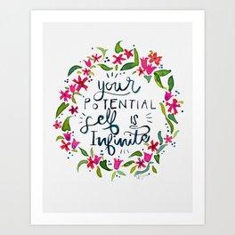 You are infinite Art Print