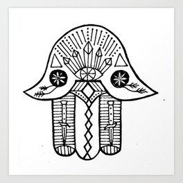 high hamsa Art Print