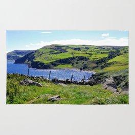 Landscape of Antrim coast. Northern Ireland Rug