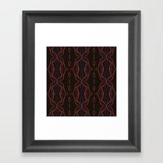 FLAME PINK LINE VIBES Framed Art Print