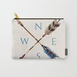 Wander Boho Blue Compass Carry-All Pouch