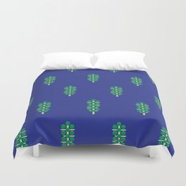 Vegetable: Brussels Sprout Blue Duvet Cover
