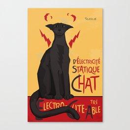 d'Electricité Statique Chat [Staticat] Canvas Print