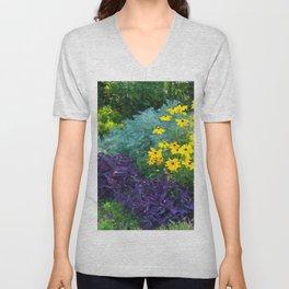 Floral Print 018 Unisex V-Neck