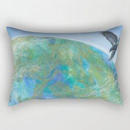 Crow Finds The Land Of Daylight Rectangular Pillow