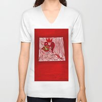 om V-neck T-shirts featuring om by Loosso