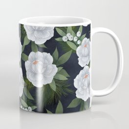 winter rose // repeat pattern Coffee Mug